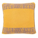 Image of Contemporary Maison Leleu Azteque Mustard Pillow For Sale