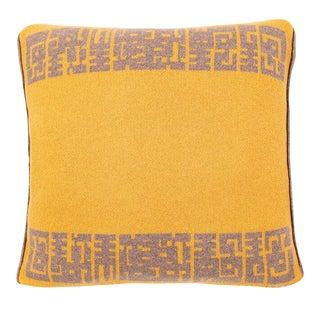 Contemporary Maison Leleu Azteque Mustard Pillow For Sale