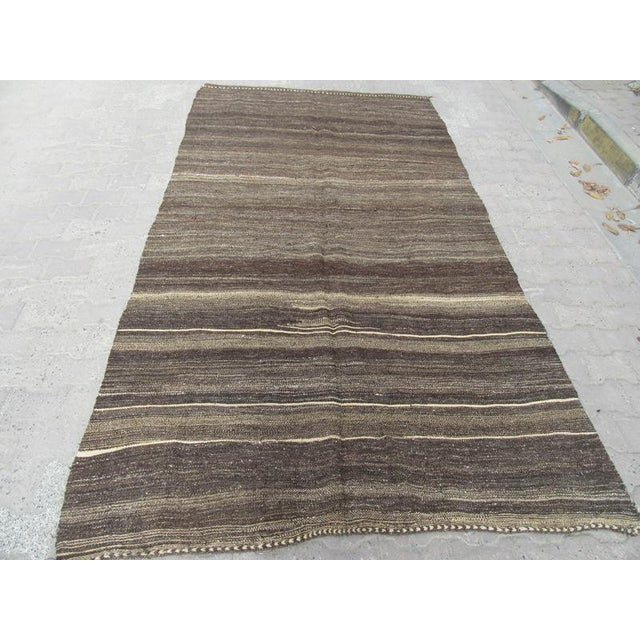 Vintage kilim rug from Afyon region of Turkey. Approximately 45-55 years old. It has been washed properly and ready to...