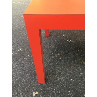 1970s Modern Tomato Red Parsons Dining Table Preview