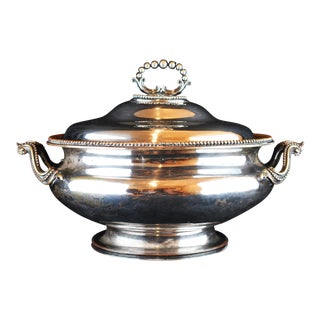 1900s Victorian Silver Plate Tureen For Sale
