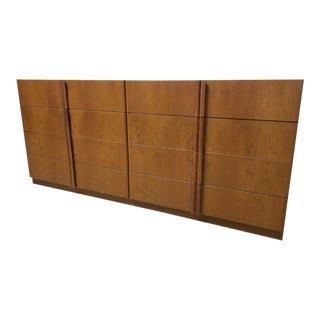 1970s Mid Century Modern Danish Teak 8 Drawer Credenza For Sale