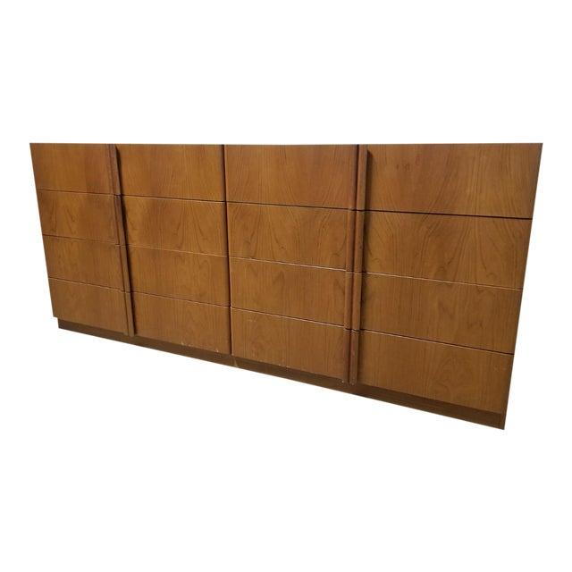 Mid Century Modern Danish 8 Drawer Credenza Dresser For Sale