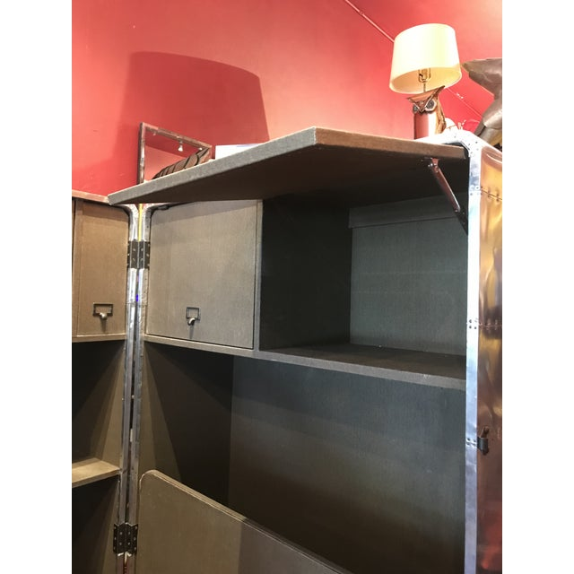 Metal Sheet Restored Office Trunk For Sale - Image 10 of 11
