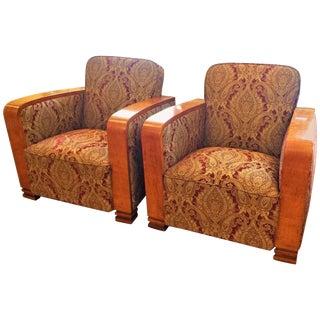 Art Deco Salon Chairs, Sweden, Circa 1930 For Sale