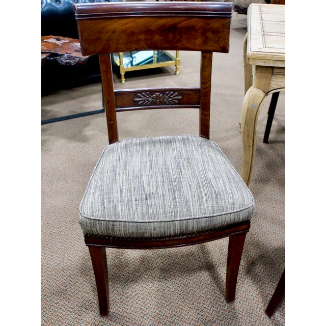 Early 19th Century Newly Upholstered French First Empire Dining Chairs - Set of 6 - Image 6 of 8