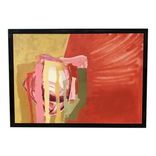 Mid Century Modern Red Painting