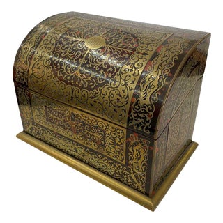 19th Century English Boulle Letter Box For Sale
