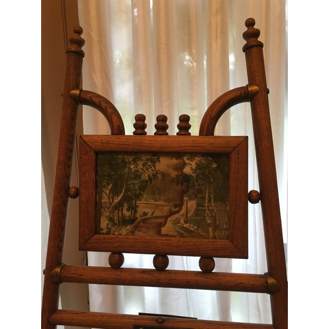 Standing Floor Model Vintage Bamboo and Brass Easel For Sale In Houston - Image 6 of 6