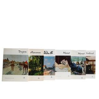Retro Coffee Table Book Set: Impressionist Art, S/6 For Sale
