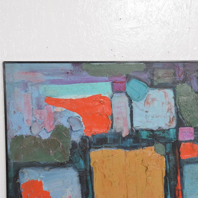 Modern Abstract Oil on Canvas, Signed 1994 For Sale - Image 10 of 11