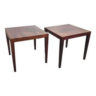 Severin Hansen Rosewood Side Tables for Hadley For Sale