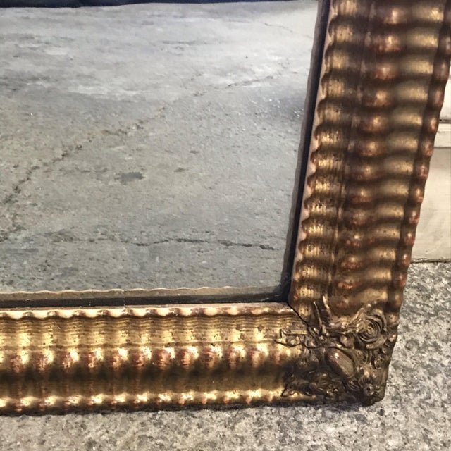 Wood 19th Century French Water Gilt Mirror For Sale - Image 7 of 11