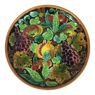 Decorative Plate by Ceramics of Monaco For Sale