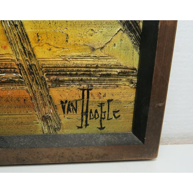 Original Mid-Century Gothic Painting on Board by Van Hoople For Sale - Image 9 of 13