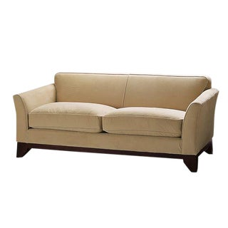 "Pottery Barn Greenwich Suede 3-Seater 86"" Sofa For Sale"