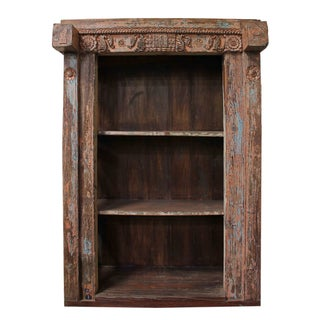 Vintage Indian Architectural Salvage Bookcase For Sale