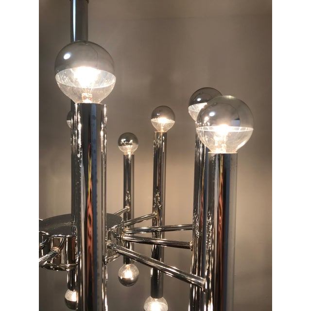 Sciolari Chrome 24-Light Chandelier For Sale In Miami - Image 6 of 7