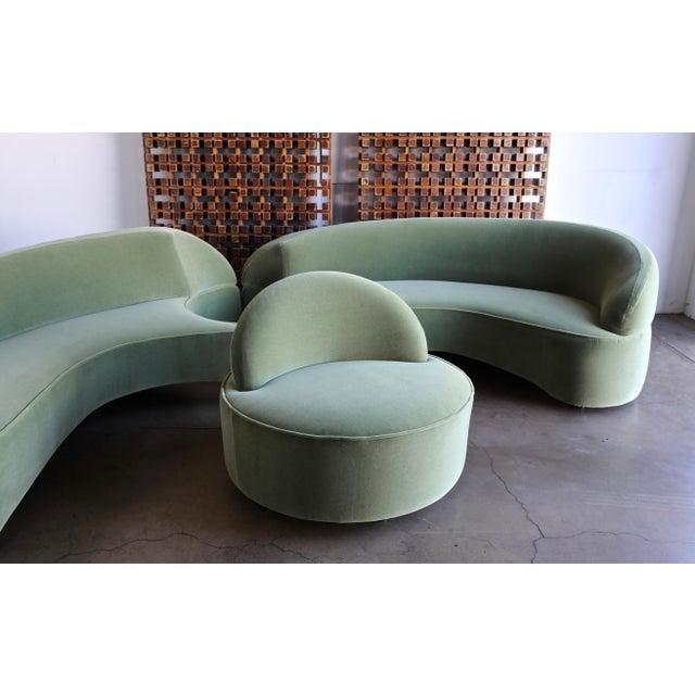 "Vladimir Kagan ""Comete"" Sofa for Roche Bobois, 2003 - Set of 3 For Sale - Image 9 of 13"