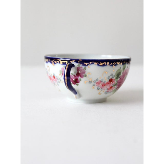 Antique Tea Cup With Gilt For Sale - Image 9 of 10