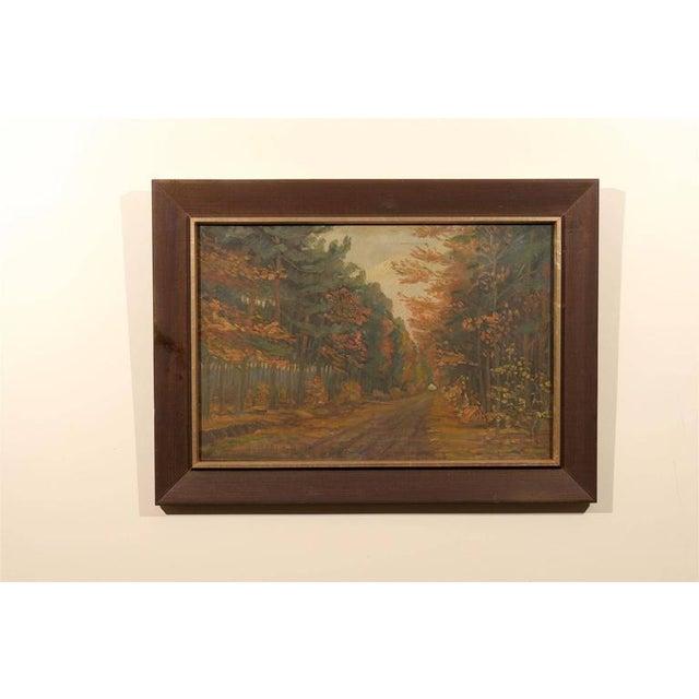 Framed Dutch Impressionist Autumn Landscape - Image 2 of 6