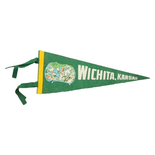 Vintage Wichita Kansas Felt Flag Banner - Image 1 of 2