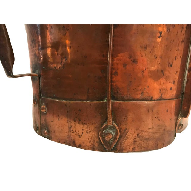 Copper 18th Century French Louis XV Log Holder or Fireside Basket For Sale - Image 7 of 11