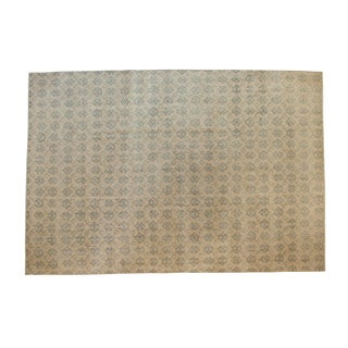 Vintage Distressed Oushak Carpet - 7' X 10'3""