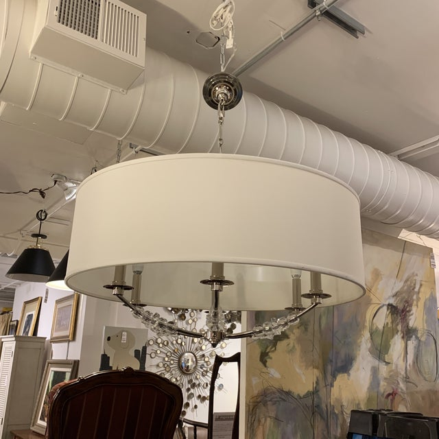 Crystorama 'Mirage' Drum Six-Light Pendant Chandelier For Sale - Image 9 of 13