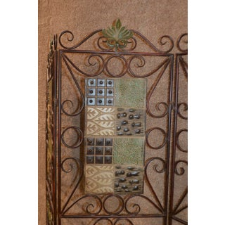 1980s Vintage 3-Panel Folding Screen Preview