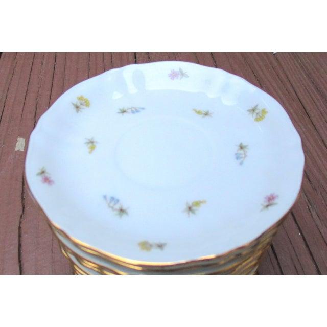 Richard Ginori Richard Ginori Italian Porcelain Tea Cups - 24 Piece For Sale - Image 4 of 11