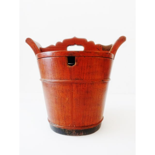 Vintage Chinese Food Carrier Rice Basket - Image 2 of 6
