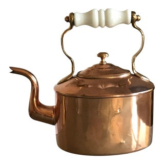 Victorian Copper Parlour Kettle