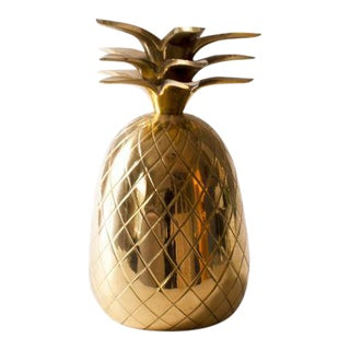 Brass Pineapple Candle Holder For Sale