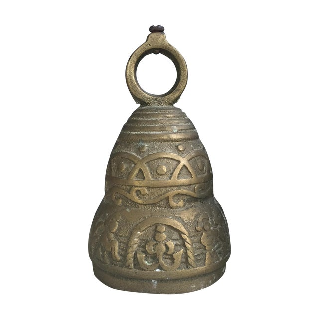 Antique Brass Nativity Bell For Sale