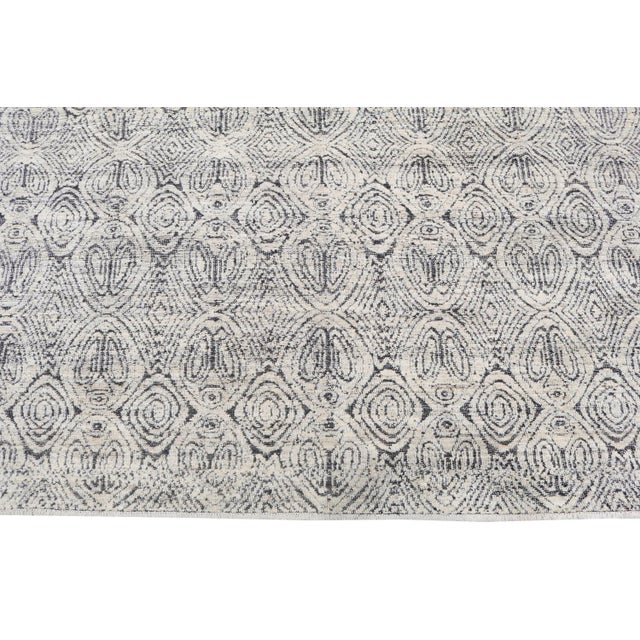 "Contemporary Moroccan Style Black and White Wool Rug - 7'11""x9'8"" For Sale - Image 3 of 5"