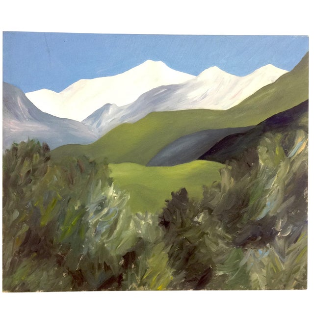 """Avery Kelly """"View From Mountain Home"""" Oil on Canvas For Sale"""