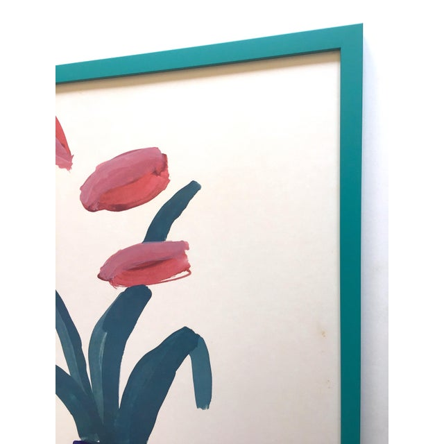 """David Hockney Rare Vintage 1981 Lithograph Print Framed"""" Paris Review """" 25th Anniversary Collector's Poster For Sale - Image 9 of 13"""