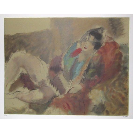 Antique lithograph print by Jules Pascin. Artist: Jules Pascin, After, French (1885 - 1930) Title: Marionette Medium:...