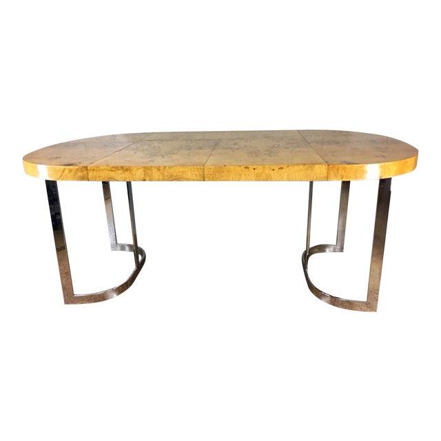 Milo Baughman Burlwood Dining Table - Image 1 of 10