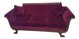 Image of Newly Made Red Standard Sofas
