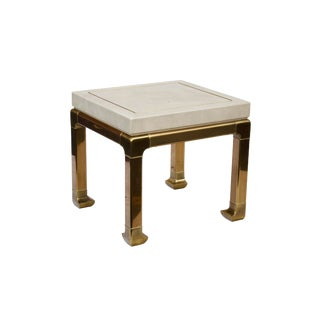 Ming Style Brass and Ivory End Table by Mastercraft For Sale