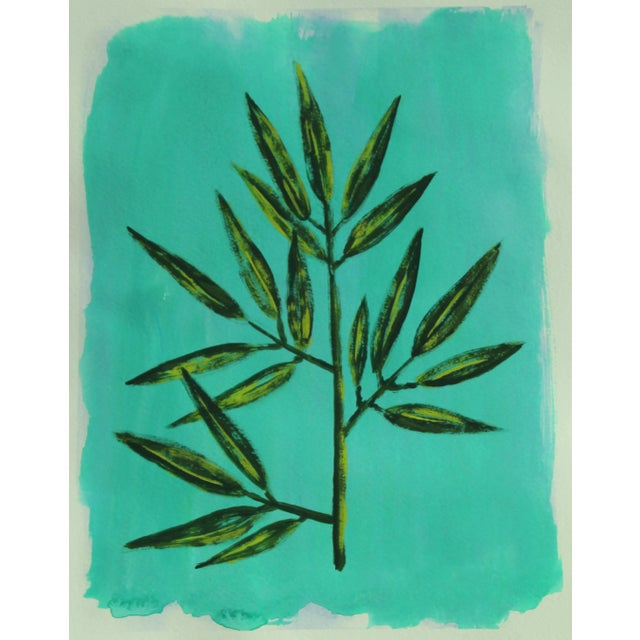 Botanic Contemporary Tropical Leaves Painting by Cleo Plowden For Sale In New York - Image 6 of 9