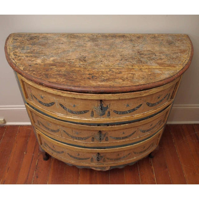 Rare, 18th Century Italian Demilune Commode For Sale - Image 4 of 10