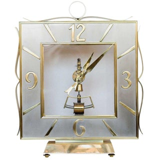 Kieninger & Obergfell Brass Mantel Clock For Sale