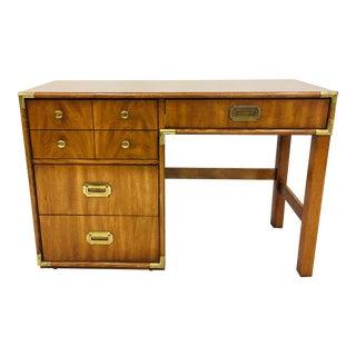 Vintage Mid Century Campaign Style Desk