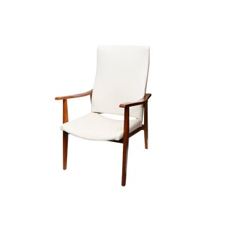 Mid Century High Back Lounge Chair For Sale