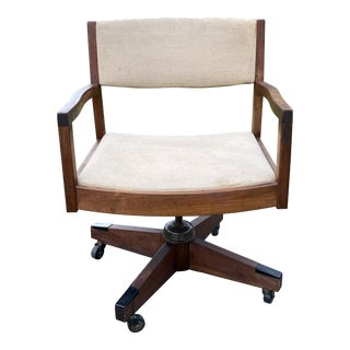 Mid-Century Modern Rolling Desk Chair For Sale
