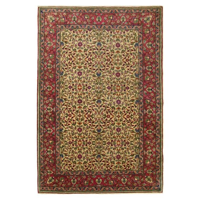 "Vintage Turkish Kayseri Carpet - 3'11"" x 5'9"" - Image 1 of 4"