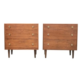 1960s Walnut Chest of Drawers by Greta M. Grossman-a Pair For Sale